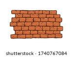 brick wall vector illustration  ... | Shutterstock .eps vector #1740767084