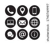 website icon set vector.... | Shutterstock .eps vector #1740769997