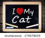 I Love My Cat Written With...