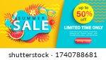 summer big sale banner  up to... | Shutterstock .eps vector #1740788681