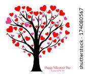 Valentine Tree With Love Heart...
