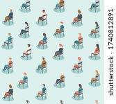 social distancing on public...   Shutterstock .eps vector #1740812891