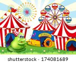 illustration of a carnival with ... | Shutterstock . vector #174081689