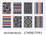 collection of abstract colorful ... | Shutterstock .eps vector #1740817091