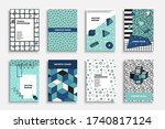 collection of artistic... | Shutterstock .eps vector #1740817124