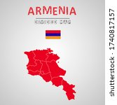 detailed map of armenia with...   Shutterstock .eps vector #1740817157