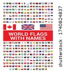 world flags with names in eps...   Shutterstock .eps vector #1740824837