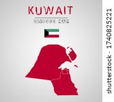 detailed map of kuwait with...   Shutterstock .eps vector #1740825221