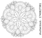 adult coloring book page a zen...   Shutterstock .eps vector #1740827381
