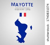 detailed map of mayotte with...   Shutterstock .eps vector #1740831074