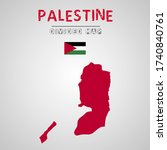 detailed map of palestine with...   Shutterstock .eps vector #1740840761