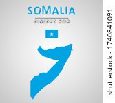detailed map of somalia with...   Shutterstock .eps vector #1740841091