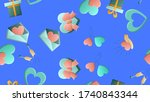 endless seamless pattern of... | Shutterstock .eps vector #1740843344