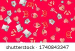 endless seamless pattern of... | Shutterstock .eps vector #1740843347