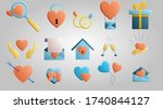 a large set of beautiful... | Shutterstock .eps vector #1740844127