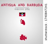 detailed map of antigua and...   Shutterstock .eps vector #1740847241