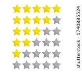 stars rating icons vector... | Shutterstock .eps vector #1740885524