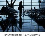 departure lounge of an... | Shutterstock . vector #174088949