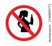 do not drink alcohol during... | Shutterstock .eps vector #1740899771