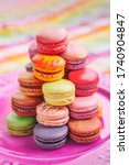 Macarons Tower French Pastries...