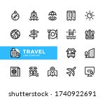 travel vector line icons.... | Shutterstock .eps vector #1740922691