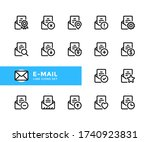 e mail vector line icons....