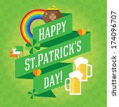 happy st. patrick's day vector... | Shutterstock .eps vector #174096707