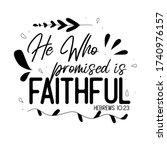 christian bible verse hebrews... | Shutterstock .eps vector #1740976157
