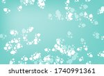 snowfall abstract vector blue... | Shutterstock .eps vector #1740991361