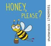 vector illustration with bee... | Shutterstock .eps vector #174099551