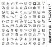 stroke line icons set of... | Shutterstock .eps vector #1741005647