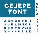 vector of modern abstract font... | Shutterstock .eps vector #1741022537