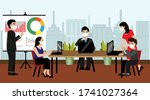 businessman and woman meeting...   Shutterstock .eps vector #1741027364