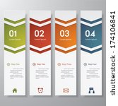 design clean number banners... | Shutterstock .eps vector #174106841