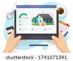 house and smart home security... | Shutterstock . vector #1741071341