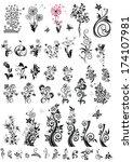 decorative floral design... | Shutterstock .eps vector #174107981