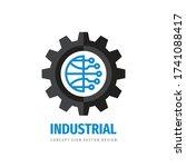 global technology gear concept... | Shutterstock .eps vector #1741088417