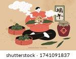 boy sitting cross legged on the ...   Shutterstock .eps vector #1741091837