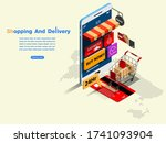 web page design templates for... | Shutterstock .eps vector #1741093904
