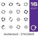 vector black refresh icons set...