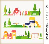 playground | Shutterstock .eps vector #174112121
