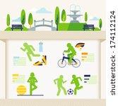 outdoor recreation  | Shutterstock .eps vector #174112124