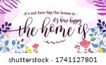 home family quotes its how... | Shutterstock .eps vector #1741127801