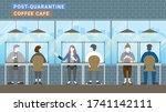 post quarantine lunch break.... | Shutterstock .eps vector #1741142111