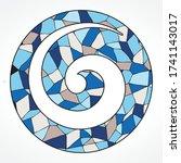 stained glass pattern inside...   Shutterstock .eps vector #1741143017