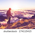 pico ruivo and pico do areeiro... | Shutterstock . vector #174115415