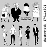 set of cartoon people different ... | Shutterstock .eps vector #174116501