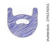 beard of man  simple logo. hand ...   Shutterstock .eps vector #1741176311