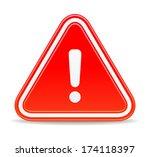 warning sign | Shutterstock .eps vector #174118397
