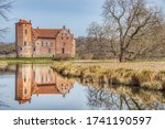 Small photo of Prosperous countryside estate or manor (Torups Slott) conveys the concept of ancient viscountcy or earldom. Ancient Swedish or Nordic mansion (Torup Castle) provides an historical barony illustration